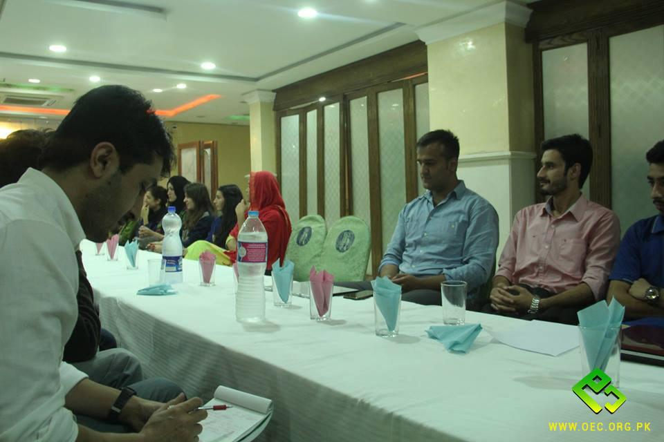 OEC Orientation for new team held in Rawalpindi