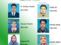 Ashfaq Hussain and Imtiaz Ali topped their respective fields at KIU Matric Examination 2012