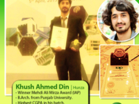 Architecture Student from Gilgit-Baltistan Receives the Mehdi Ali Mirza Award from IAP