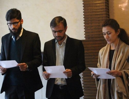 New President and Vice-President of Organization for Educational Change (OEC) Take Oath of Office bearers.