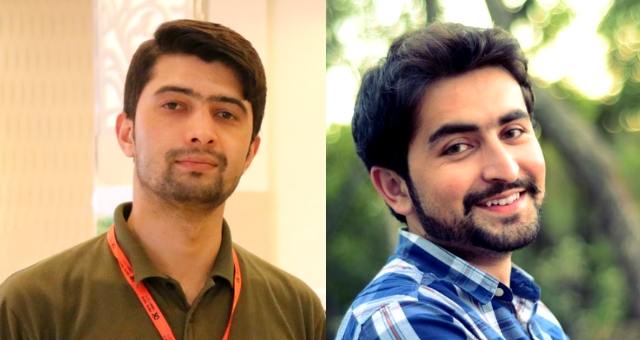 Imran Ahmed Hunzai (L) and Wasim Khan Zapoo (R)